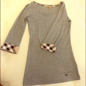 Women's Burberry Brit Grey Tee Shirt.